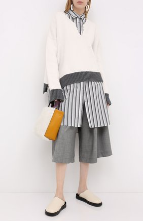 Женская шерстяной свитер MARNI белого цвета, арт. CVMD0049Q1/FH515 | Фото 2