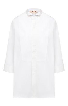 Женская хлопковая рубашка MARNI белого цвета, арт. CAMA0348A0/TCY67 | Фото 1