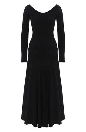 Женское шерстяное платье MARNI черного цвета, арт. ABMD0055A3/FH512 | Фото 1