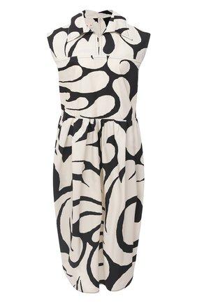 Женское хлопковое платье MARNI черно-белого цвета, арт. ABMA0537A0/TCZ16 | Фото 1