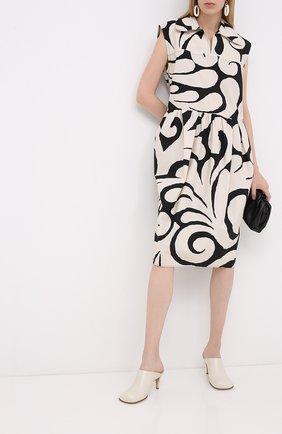 Женское хлопковое платье MARNI черно-белого цвета, арт. ABMA0537A0/TCZ16 | Фото 2