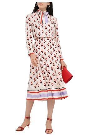 Женская шелковая блузка VALENTINO кремвого цвета, арт. UB3AE5125LB | Фото 2