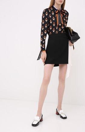 Женская шелковая блузка VALENTINO черного цвета, арт. UB3AE5125LB   Фото 2