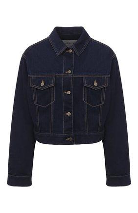 Женская джинсовая куртка VALENTINO темно-синего цвета, арт. UB3DC01U5K8 | Фото 1
