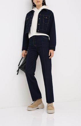 Женская джинсовая куртка VALENTINO темно-синего цвета, арт. UB3DC01U5K8 | Фото 2
