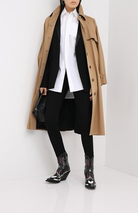 Женские джинсы VALENTINO черного цвета, арт. UB3DD10V55B | Фото 2