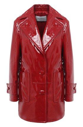 Женское кожаное пальто VALENTINO красного цвета, арт. UB3NB05E5JR   Фото 1