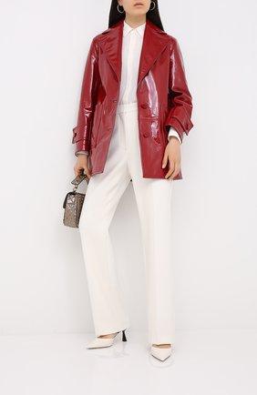Женское кожаное пальто VALENTINO красного цвета, арт. UB3NB05E5JR   Фото 2