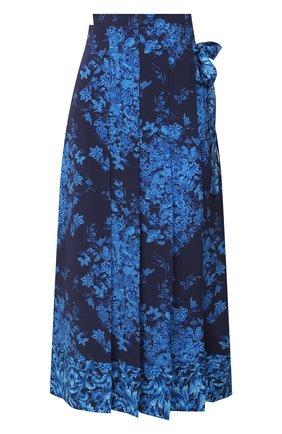 Женская шелковая юбка VALENTINO голубого цвета, арт. UB3RA6295T5 | Фото 1
