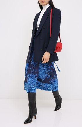 Женская шелковая юбка VALENTINO голубого цвета, арт. UB3RA6295T5 | Фото 2