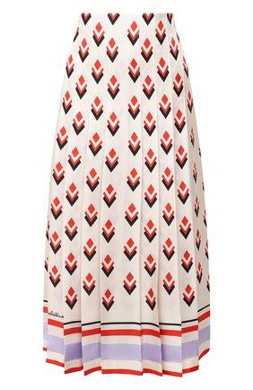 Женская шелковая юбка VALENTINO кремвого цвета, арт. UB3RA6F25LB | Фото 1