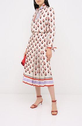 Женская шелковая юбка VALENTINO кремвого цвета, арт. UB3RA6F25LB | Фото 2