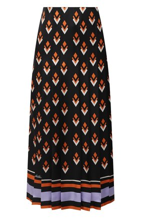 Женская шелковая юбка VALENTINO черного цвета, арт. UB3RA6F25LB | Фото 1