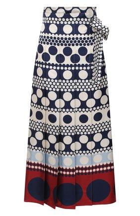 Женская шелковая юбка VALENTINO синего цвета, арт. UB3RA6G05L9 | Фото 1