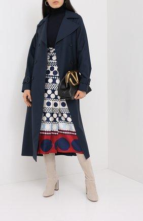 Женская шелковая юбка VALENTINO синего цвета, арт. UB3RA6G05L9 | Фото 2