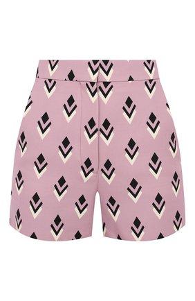 Женские шорты из шерсти и шелка VALENTINO розового цвета, арт. UB3RF1H55LK   Фото 1