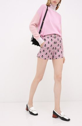 Женские шорты из шерсти и шелка VALENTINO розового цвета, арт. UB3RF1H55LK   Фото 2