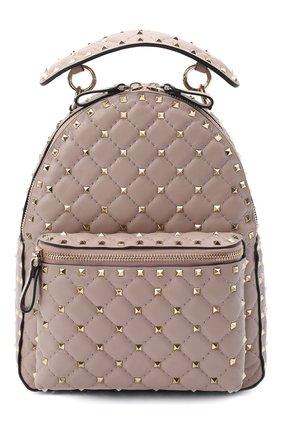 Женский рюкзак valentino garavani rockstud spike VALENTINO бежевого цвета, арт. UW2B0C48/NAP | Фото 1