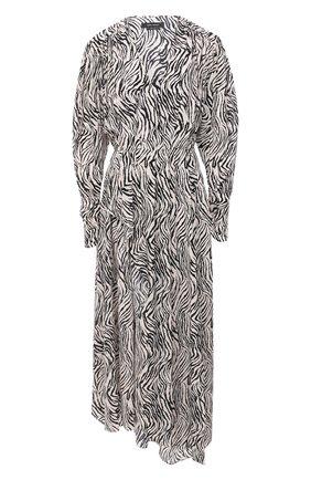 Женское хлопковое платье ISABEL MARANT черно-белого цвета, арт. R01783-20A026I/BLAINEA | Фото 1