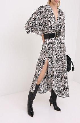 Женское хлопковое платье ISABEL MARANT черно-белого цвета, арт. R01783-20A026I/BLAINEA | Фото 2