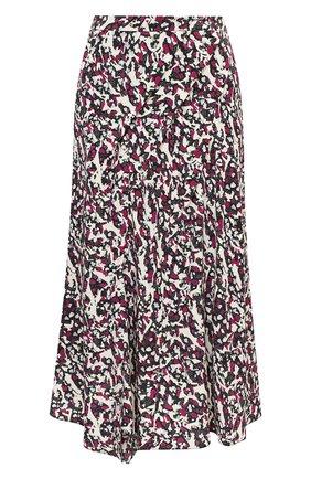 Женская шелковая юбка ISABEL MARANT розового цвета, арт. JU0832-20A026I/CACIA | Фото 1