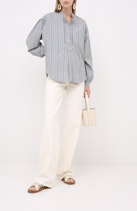 Женская хлопковая рубашка ISABEL MARANT ETOILE зеленого цвета, арт. CH0672-20A040E/ALIS0N   Фото 2