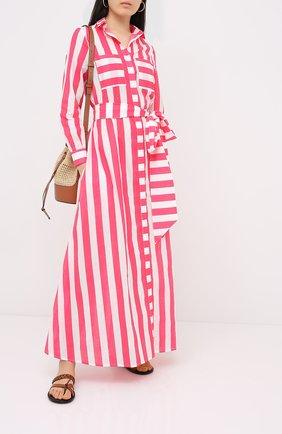 Женское хлопковое платье NATAYAKIM розового цвета, арт. NY-017BW | Фото 2