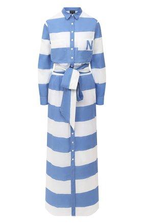 Женское хлопковое платье NATAYAKIM синего цвета, арт. NY-017BWW | Фото 1