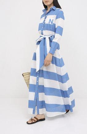 Женское хлопковое платье NATAYAKIM синего цвета, арт. NY-017BWW | Фото 2