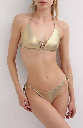Женский плавки-бикини NATAYAKIM золотого цвета, арт. NY-039B/19 | Фото 2