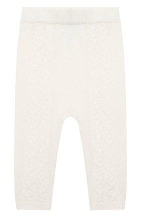 Детские кашемировые брюки LORO PIANA белого цвета, арт. FAI7293 | Фото 1