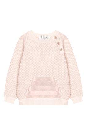 Детский кашемировый пуловер LORO PIANA светло-розового цвета, арт. FAI6023 | Фото 1
