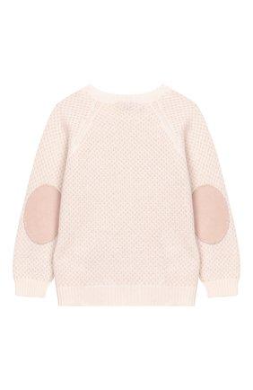 Детский кашемировый пуловер LORO PIANA светло-розового цвета, арт. FAI6023 | Фото 2