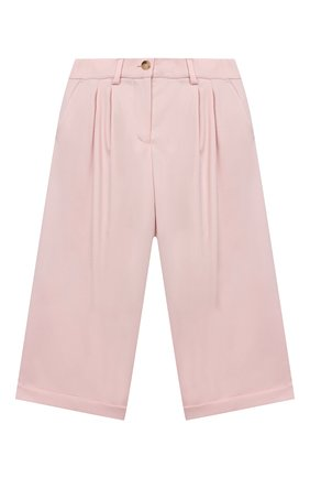 Детского шерстяные брюки LORO PIANA светло-розового цвета, арт. FAL2752 | Фото 1