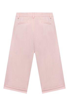 Детского шерстяные брюки LORO PIANA светло-розового цвета, арт. FAL2752 | Фото 2