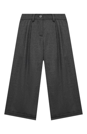 Детские шерстяные брюки LORO PIANA серого цвета, арт. FAL2752 | Фото 1