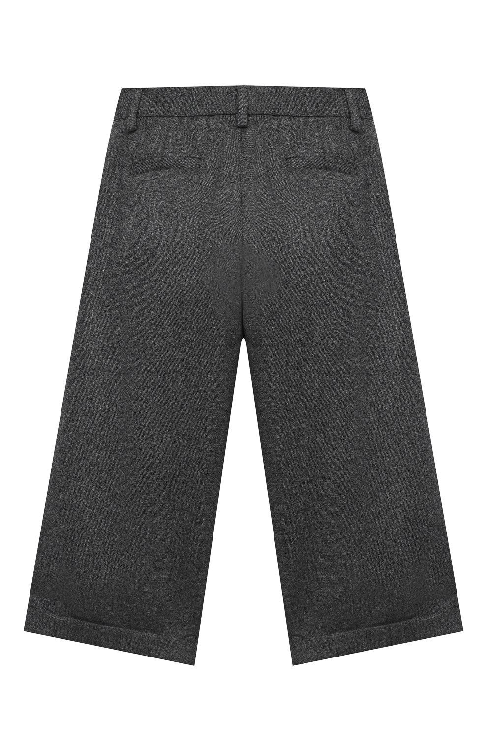 Детские шерстяные брюки LORO PIANA серого цвета, арт. FAL2752 | Фото 2