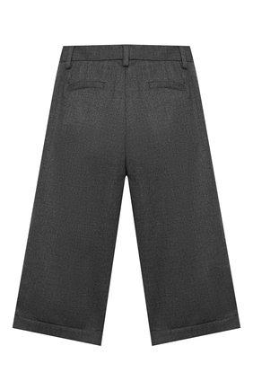 Детского шерстяные брюки LORO PIANA серого цвета, арт. FAL2752 | Фото 2
