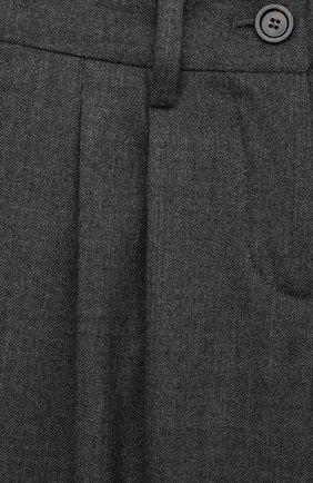 Детские шерстяные брюки LORO PIANA серого цвета, арт. FAL2752 | Фото 3