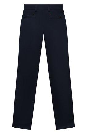 Детские хлопковые брюки ALESSANDRO BORELLI MILANO синего цвета, арт. 20202 | Фото 2