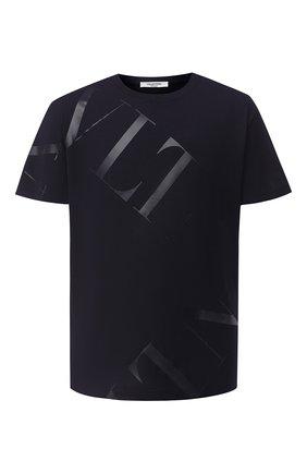 Мужская хлопковая футболка VALENTINO синего цвета, арт. UV3MG02P5FV | Фото 1