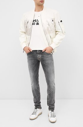 Мужские джинсы DIESEL серого цвета, арт. 00SWJF/009FW | Фото 2