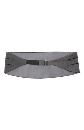 Мужской камербанд из хлопка и шелка BRUNELLO CUCINELLI серого цвета, арт. MR813S005 | Фото 2