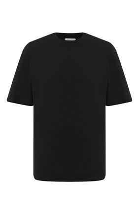Мужская хлопковая футболка BOTTEGA VENETA черного цвета, арт. 625982/VF1U0 | Фото 1