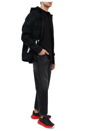 Мужская хлопковая футболка BOTTEGA VENETA черного цвета, арт. 625982/VF1U0 | Фото 2