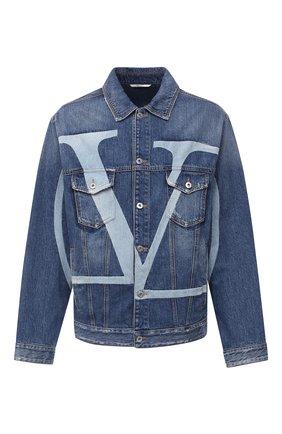 Мужская джинсовая куртка VALENTINO синего цвета, арт. UV3DC01J6H5 | Фото 1