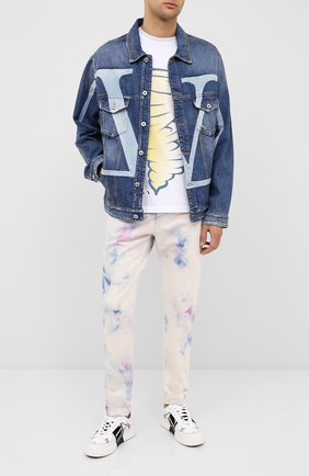 Мужская джинсовая куртка VALENTINO синего цвета, арт. UV3DC01J6H5 | Фото 2
