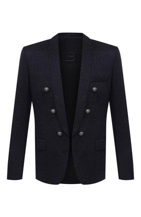 Мужской шерстяной пиджак BALMAIN темно-синего цвета, арт. UH17139/J210 | Фото 1