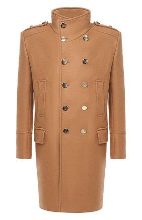 Мужской шерстяное пальто BALMAIN бежевого цвета, арт. UH18419/W076 | Фото 1