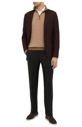 Мужской шерстяные брюки LORO PIANA коричневого цвета, арт. FAL3004 | Фото 2